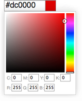 Image of picking a color using the color calculator