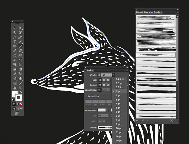 igh Quality and Free Illustrator Brushes