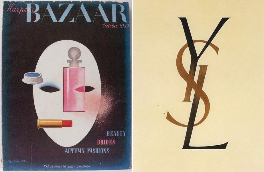 Harper's Bazaar Cover and YSL Logo
