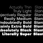 Objective typeface