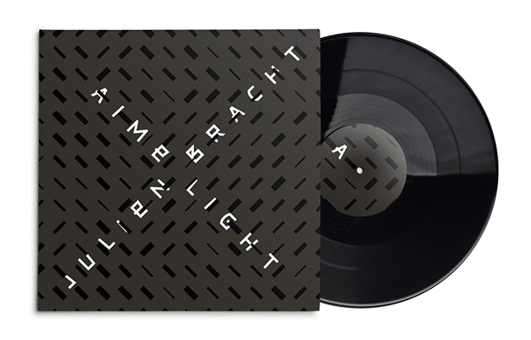 Julien Bracht Aime Light record sleeve anthracite and black