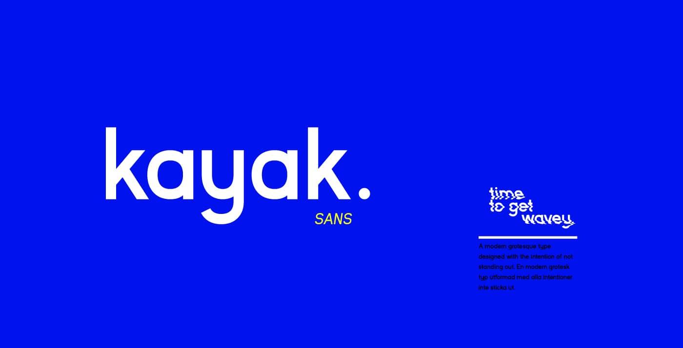 Free Font Friday: Kayak Sans - Notes on Design   Sessions