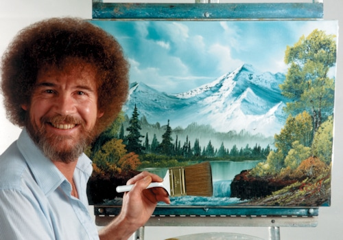 Image result for bob ross image