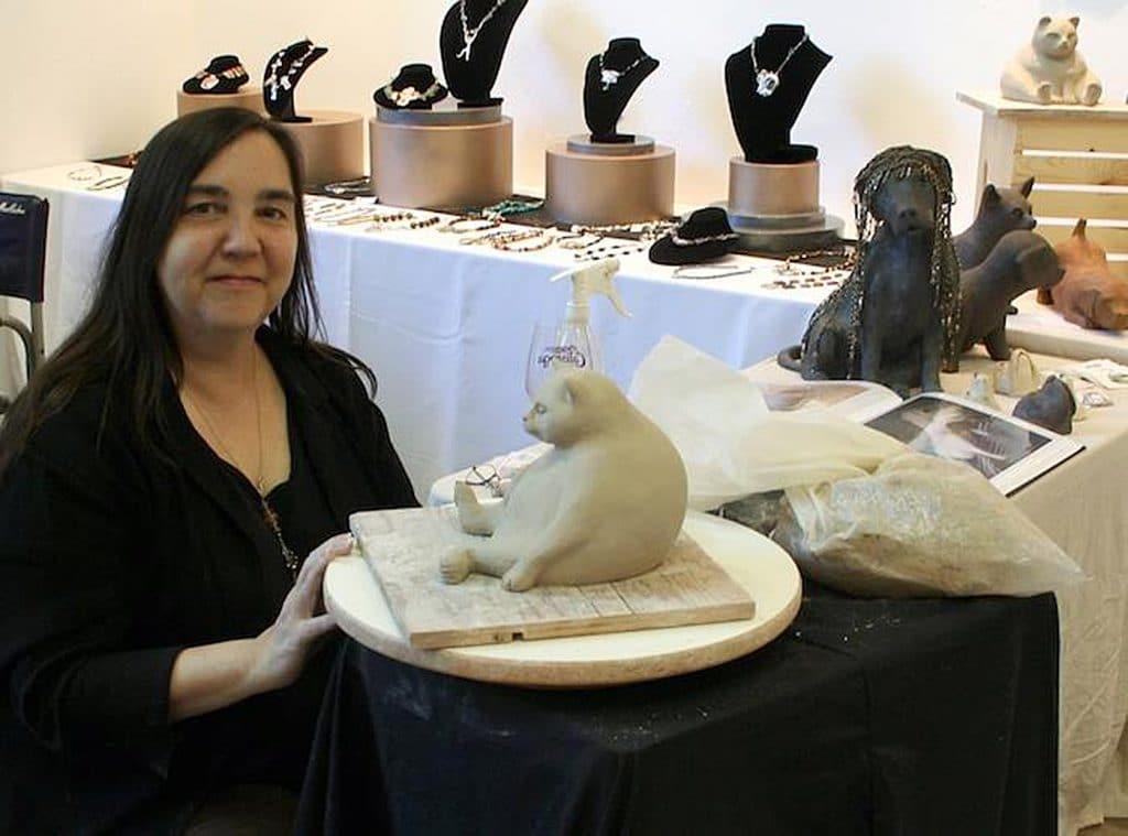 Artist Catherine George at Engage Art Fair
