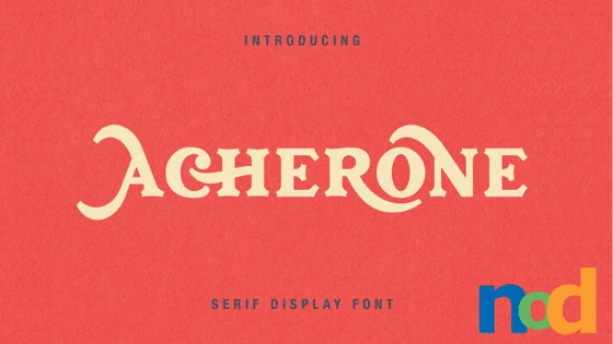 Free Font Friday - Acherone