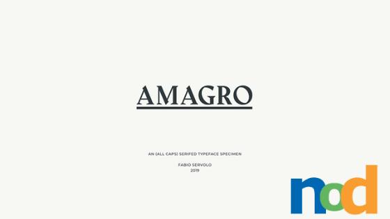 Free Font Friday - Amagro