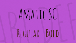 Free Font Friday - Amatic SC - Sessions College