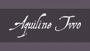Free Font Friday - Aquiline Two