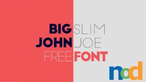 Free Font Friday - Big John Slim Joe - Sessions College