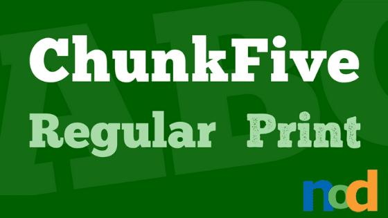 Free Font Friday - Chunkfive