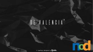 Free Font Friday - De Valencia
