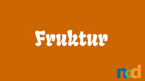 Free Font Friday - Fruktur