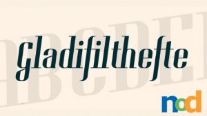 Free Font Friday - Gladifilthefte
