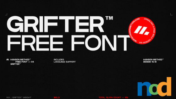 Free Font Friday - Grifter