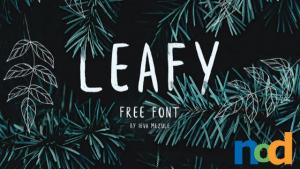 Free Font Friday - Leafy