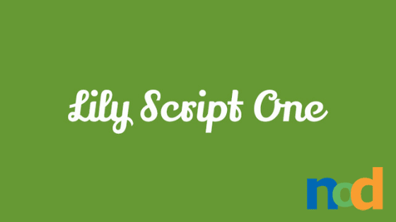 Free Font Friday - Lily Script One
