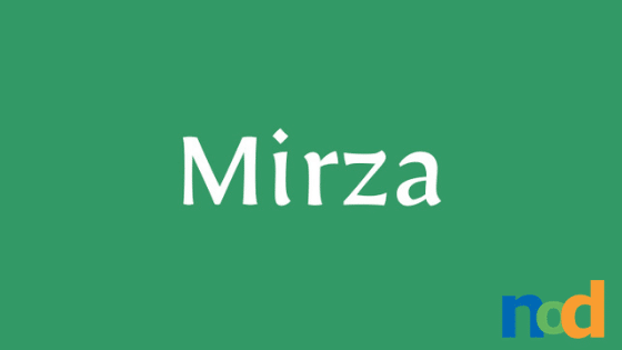 Free Font Friday - Mirza