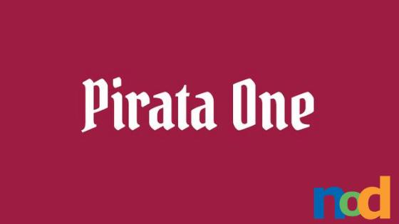 Free Font Friday - Pirata One