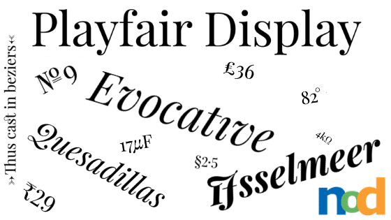 Free Font Friday - Playfair Display - Sessions College