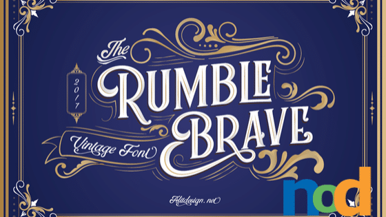 Free Font Friday - Rumble Brave