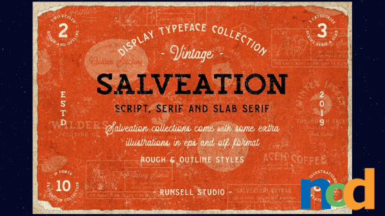 Free Font Friday - Salveation