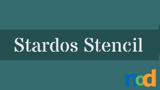Free Font Friday - Stardos Stencil