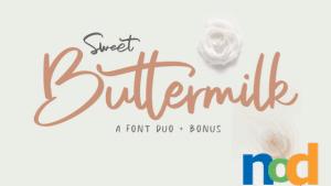 Free Font Friday - Sweet Buttermilk