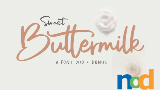 Free Font Friday - Sweet Buttermilk