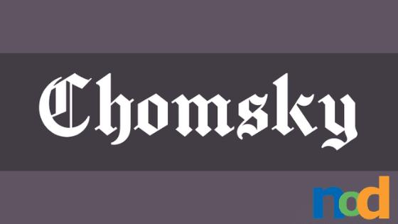 Free Font Friday_ Chomsky