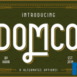 Free Font Friday_ Domco