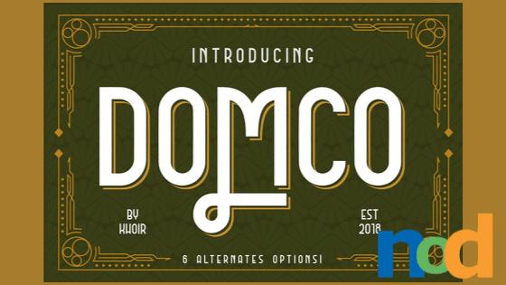 Free Font Friday_ Domco
