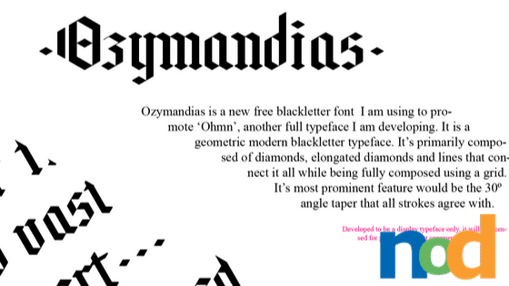 Free Font Friday_ Ozymandias