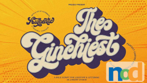 Free Font Friday - The Ginchiest (1)