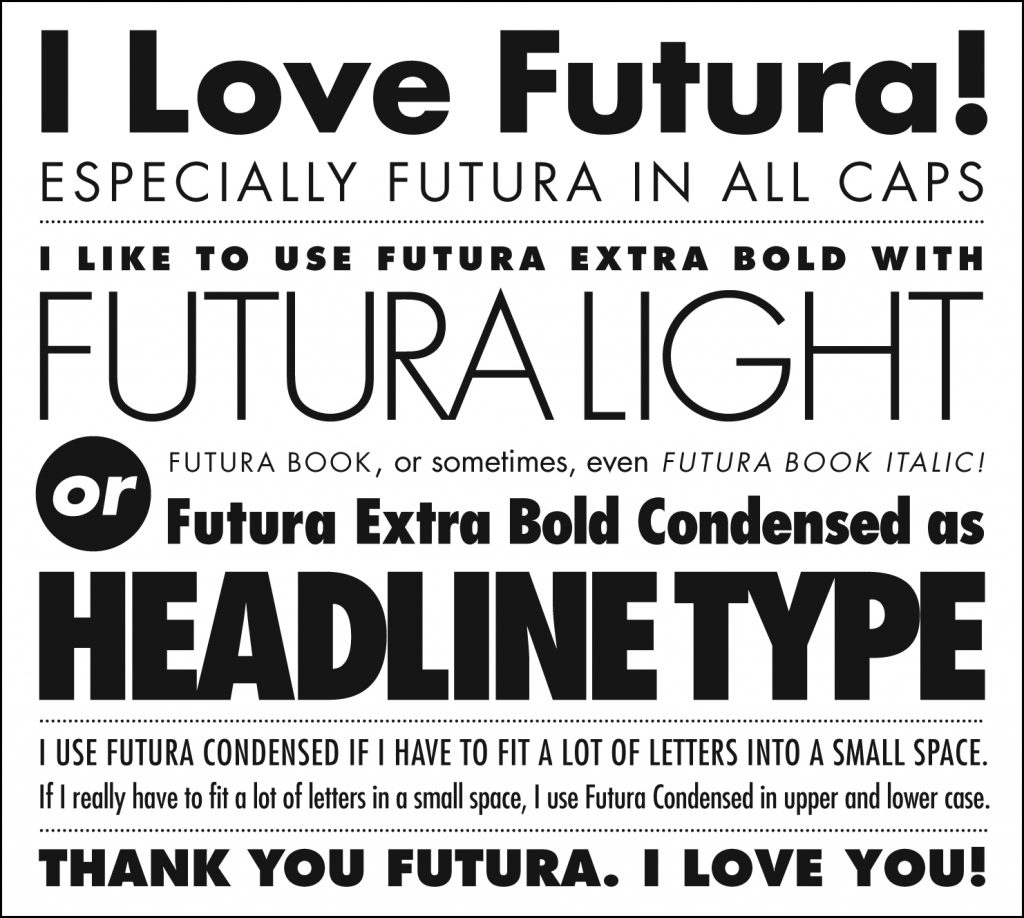 Type in History: Futura - Notes on Design | Sessions College