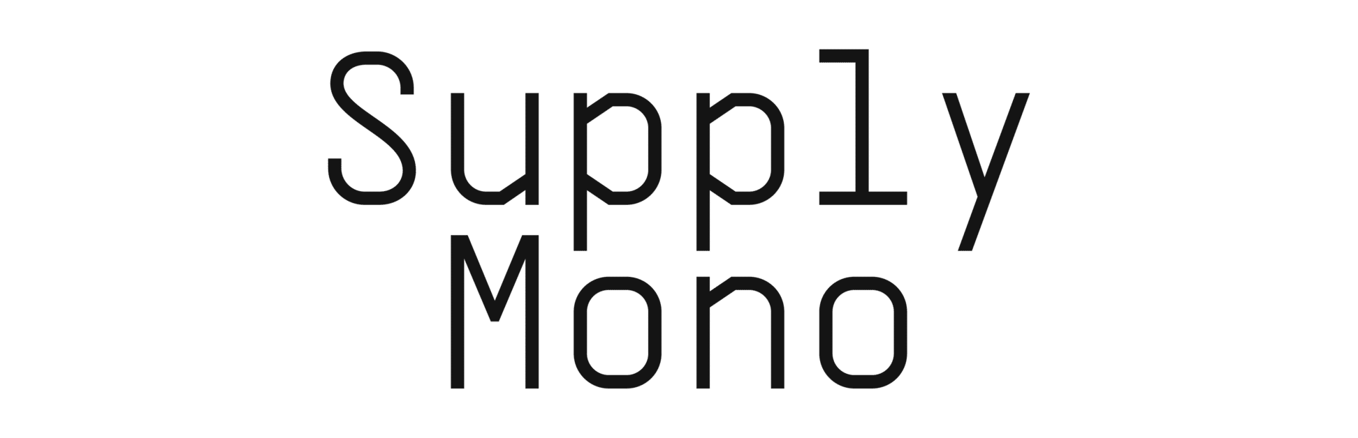 supply mono typeface