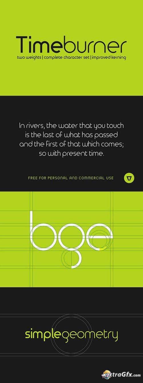 Timeburner Font - Sessions College for Professional Design