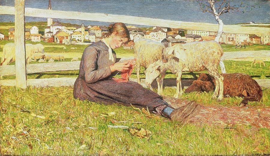 a-girl-knitting-giovanni-segantini