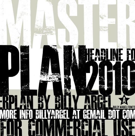 Free Font Friday Master Plan