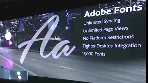 Adobe Fonts announcement - Adobe Max