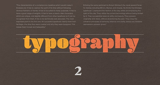 Advanced typography course image