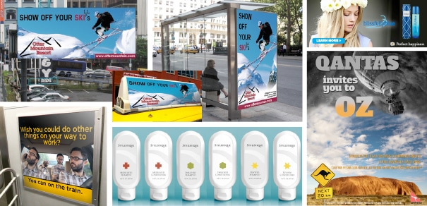 collage of advertising degree level work