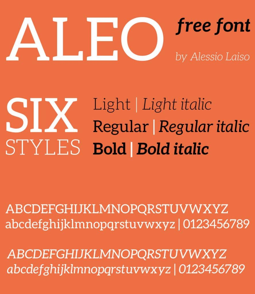 Free Font Friday: Aleo - Notes on Design | Sessions College