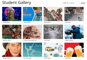 April 2021 Student Gallery homepage