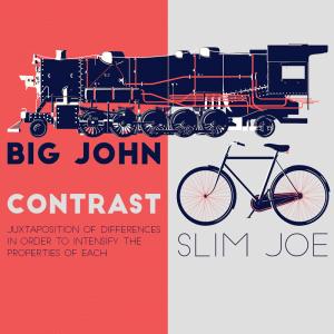 big john slim joe weight contrast