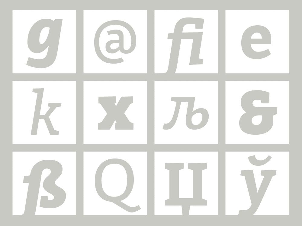 Bitter Font Glyphs