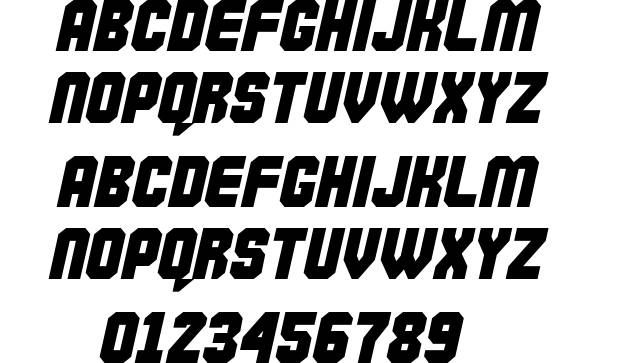 commando font 3