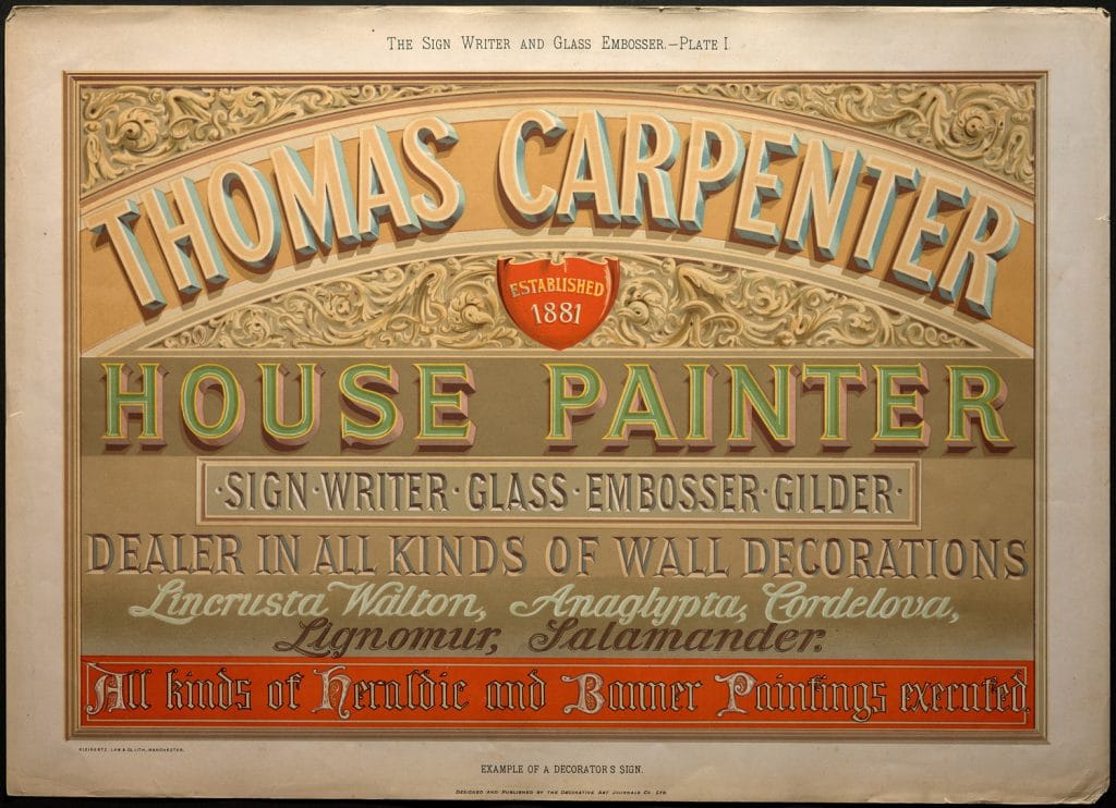 William George Sutherland, The Sign Writer and Glass Embosser (1898)