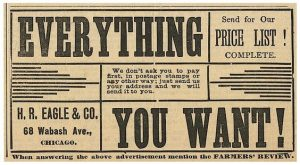 Vintage H. R. Eagle Advertisement