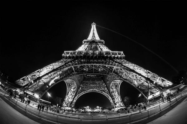 fisheye lens - Eiffel tower