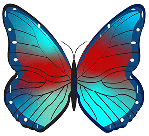 Illustrator freeform gradient example butterfly